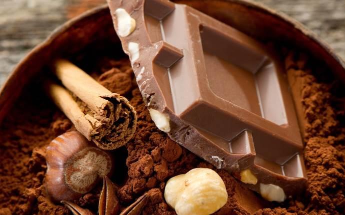 Шоколадная долька и какао