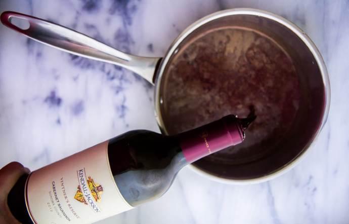 Приготовление шоколадного вина