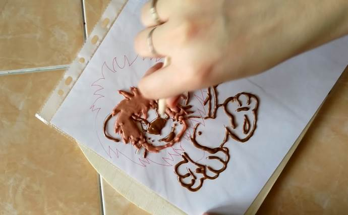 Львенок из шоколада