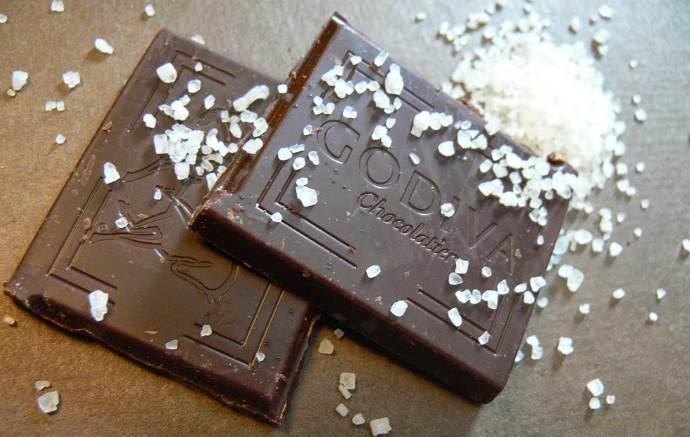 Соль на шоколаде