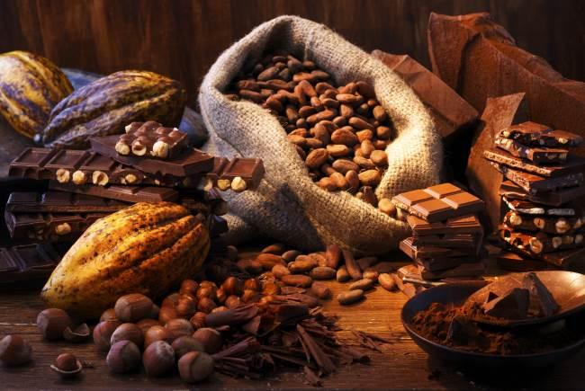 Мешки с какао-бобами